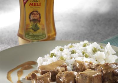 Curry van lam met Meli Menthol aromahoning