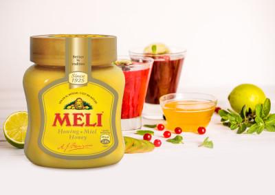 Framboos-banaan smoothie met honing