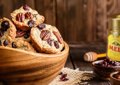 Verrassende ontbijtkoekjes met banaan, noten, zaden en honing