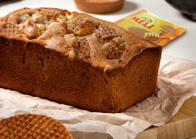 Cake met honingwafel