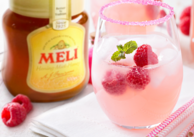 Mocktail : Raspberry Bee's Knees